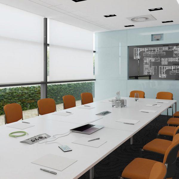 Adapt square boardroom table