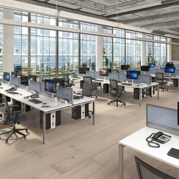 Glazed screen brackets for Adapt and Fuze desks