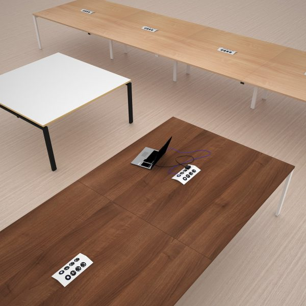 Adapt square power ready boardroom table