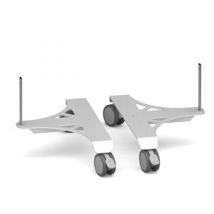 Aluminium frame mobile screen feet (pair)