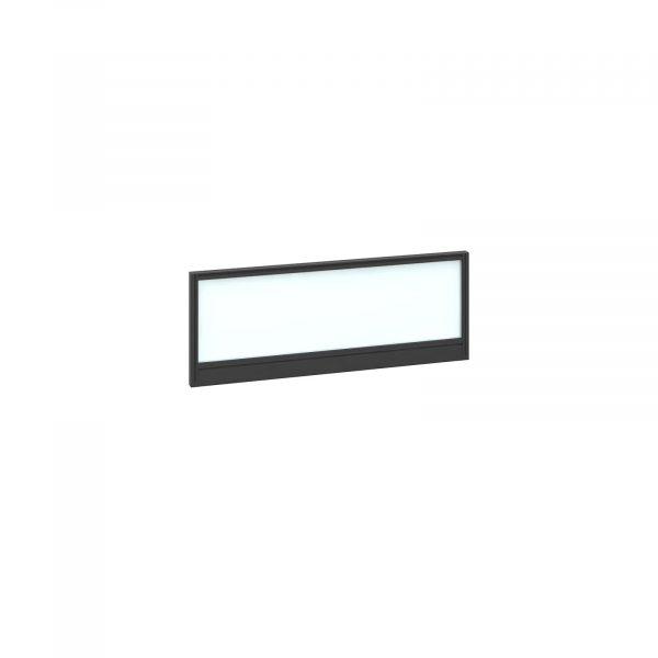 Straight glazed desktop screen with aluminium frame