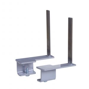 Aluminium framed screen brackets - back (pair)