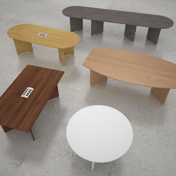 Arrow head boardroom table with power module