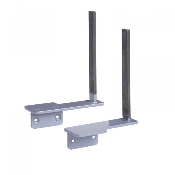 Aluminium framed screen brackets - return (pair)