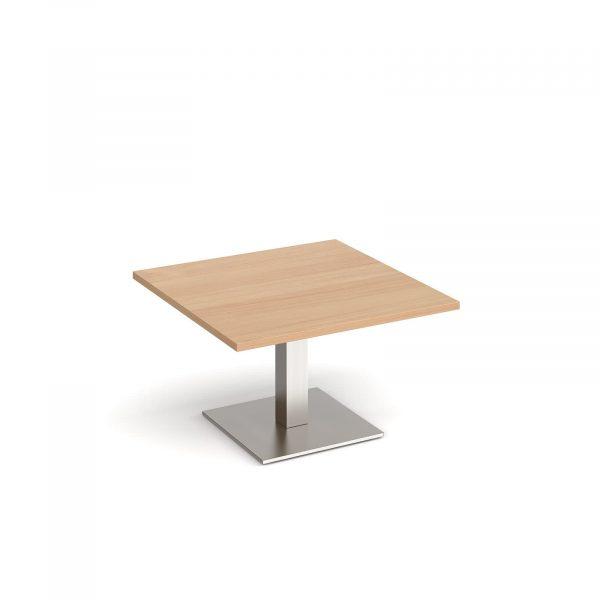 Brescia square coffee table with flat square base