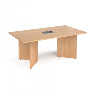 Arrow head boardroom table with power module