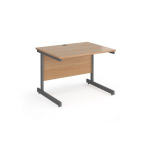 Contract 25 cantilever leg straight desk