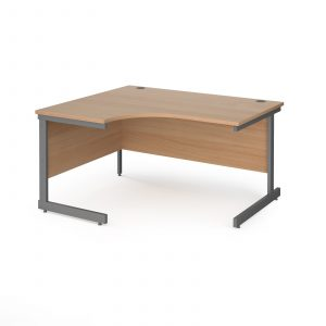 Contract 25 cantilever leg LH ergonomic desk