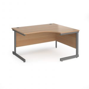 Contract 25 cantilever leg RH ergonomic desk