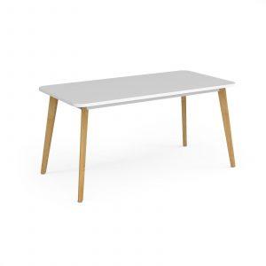 Como rectangular dining table with oak legs