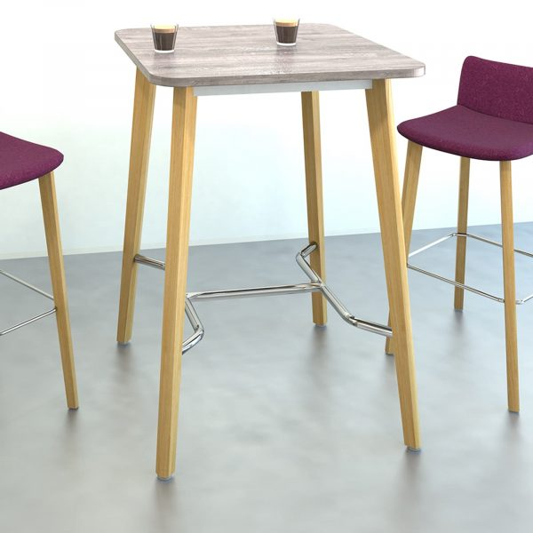 Como square dining table with oak legs