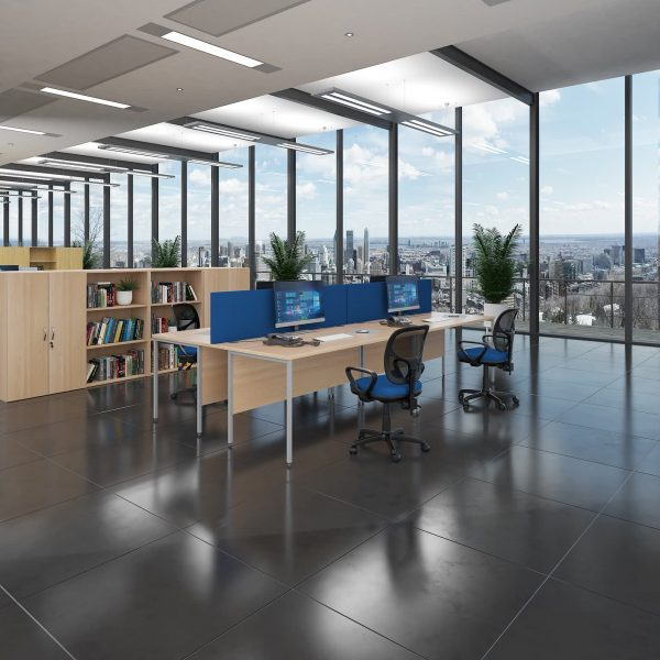 Contract 25 H-Frame straight desk