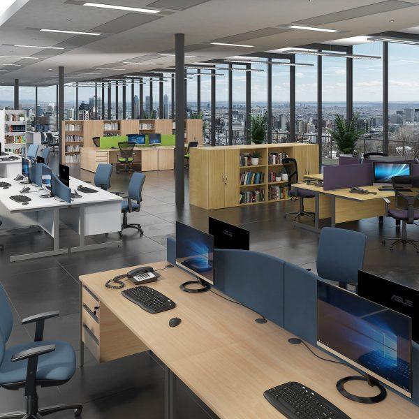 Contract 25 cantilever leg LH ergonomic desk