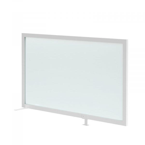 Clear polyvinyl desk return screen