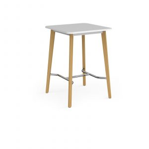 Como square poseur table with oak legs