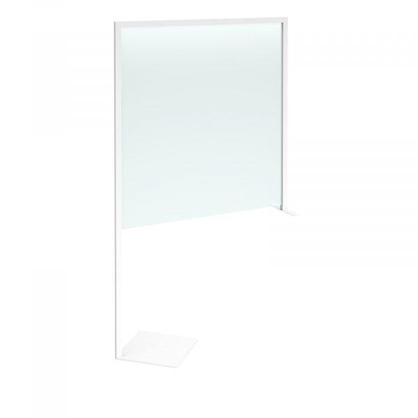 Clear polyvinyl desk divider