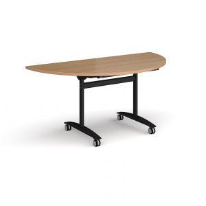 Semi circular deluxe fliptop meeting table