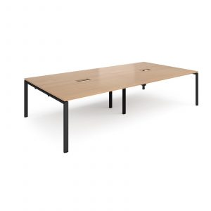 Adapt rectangular power ready boardroom table