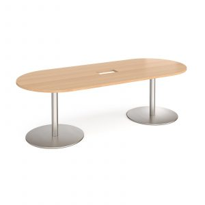 Eternal radial end power ready boardroom table