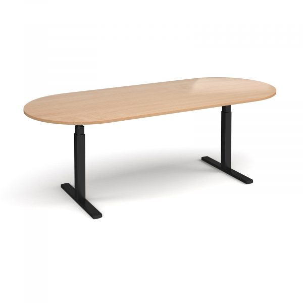 Elev8 Touch radial end boardroom table