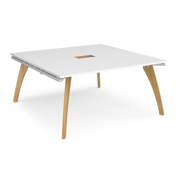 Fuze square power ready boardroom table