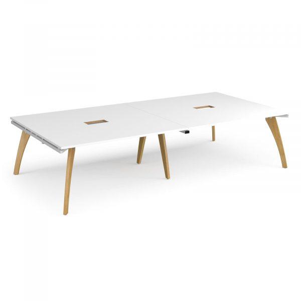 Fuze rectangular power ready boardroom table