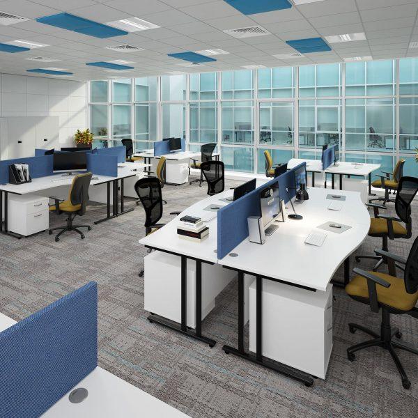 Maestro 25 cantilever right hand ergonomic desk