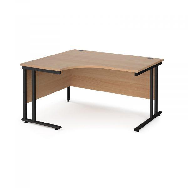 Maestro 25 cantilever left hand ergonomic desk