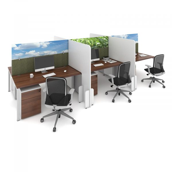 Desk division floor standing mfc screen