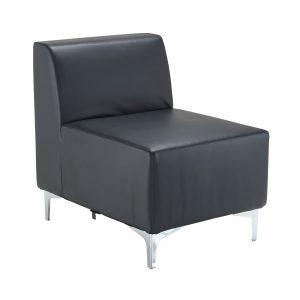 Quatro leather modular reception seating