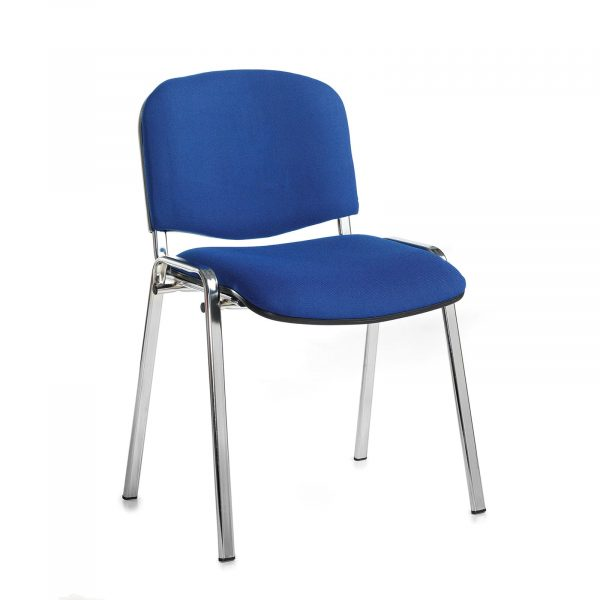Taurus meeting room chair with chrome frame